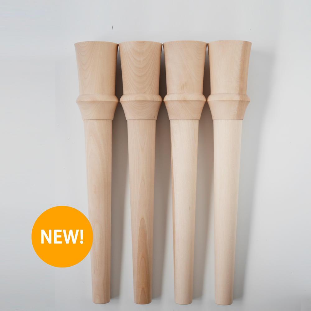 木の脚デザインR 埋込金具付